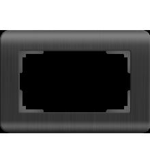 WL12-Frame-01-DBL Рамка для двойной розетки (графит)