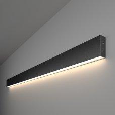 Линейный светодиодный накладной односторонний светильник 128см 25Вт 4200К черная шагрень