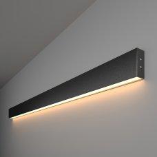 Линейный светодиодный накладной односторонний светильник 128см 25Вт 3000К черная шагрень