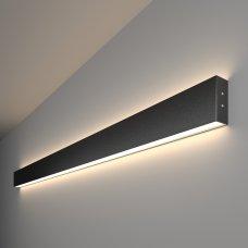 Линейный светодиодный накладной двусторонний светильник 128см 50Вт 4200К черная шагрень