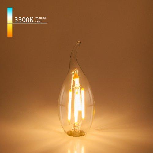"Филаментная светодиодная лампа ""Свеча на ветру"" CA35 7W 3300K E14 BL130"