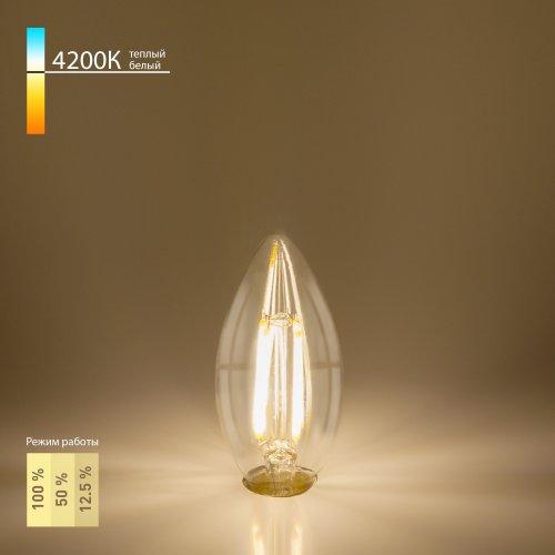 "Филаментная светодиодная лампа ""Свеча"" Dimmable C35 5W 4200K E14 BL134"