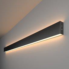 Линейный светодиодный накладной двусторонний светильник 128см 50Вт 3000К черная шагрень
