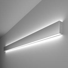 Линейный светодиодный накладной двусторонний светильник 128см 50Вт 6500К матовое серебро