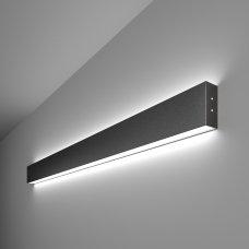 Линейный светодиодный накладной двусторонний светильник 103см 40Вт 6500К черная шагрень