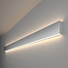 Линейный светодиодный накладной двусторонний светильник 128см 50Вт 4200К матовое серебро