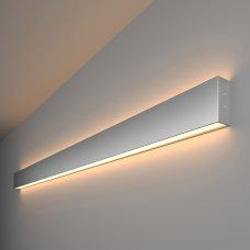 Линейный светодиодный накладной двусторонний светильник 128см 50Вт 3000К матовое серебро