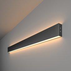 Линейный светодиодный накладной двусторонний светильник 103см 40Вт 3000К черная шагрень