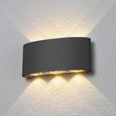 Накладной светильник 1551 Techno LED Twinky Trio серый