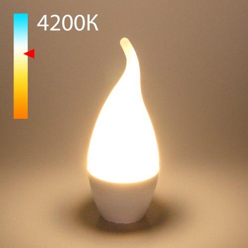 """Светодиодная лампа """"Свеча на ветру"""" CA37 8W 4200K E14 BLE1432"""