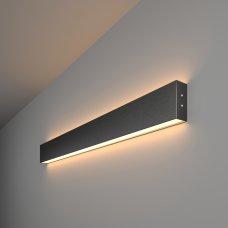 Линейный светодиодный накладной двусторонний светильник 78см 30Вт 3000К черная шагрень