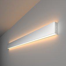 Линейный светодиодный накладной двусторонний светильник 103см 40Вт 3000К матовое серебро